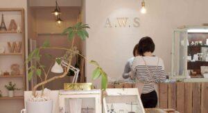 指輪作りの体験工房a.w.s 東京・蔵前店の店内
