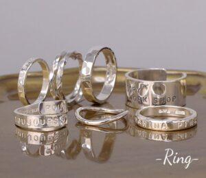 指輪作りの体験メニューペアリングやベビーリングなど