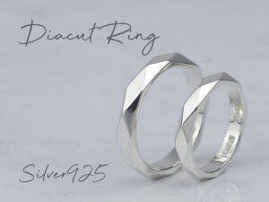 シルバー925製ダイヤカットリング