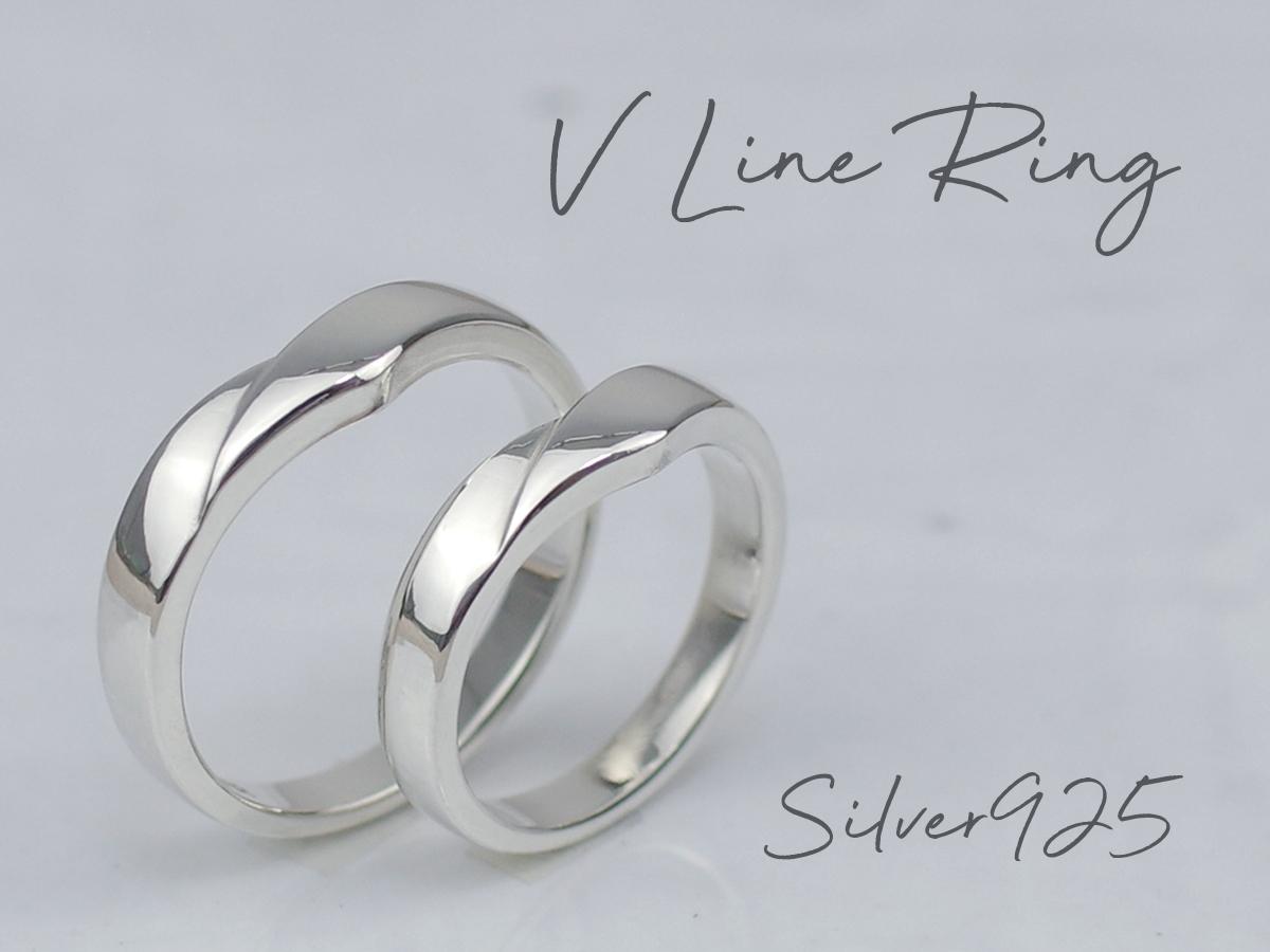 silver925製Vラインring