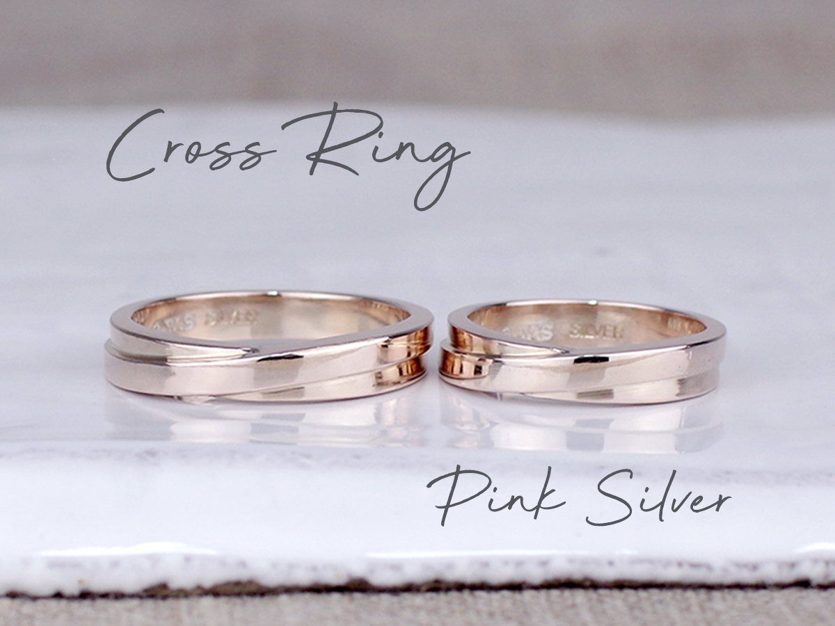 cross ring pinksilver